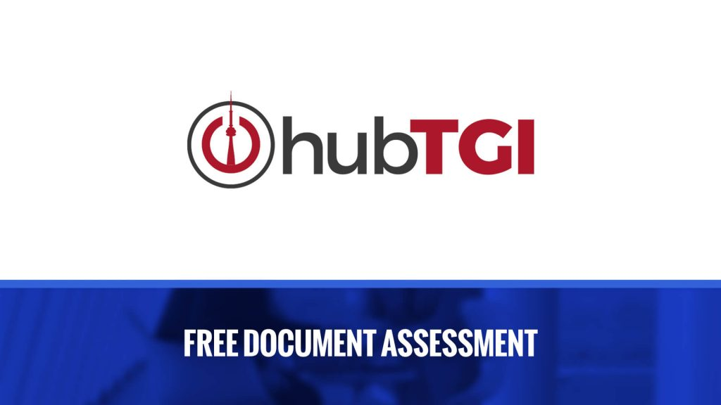 hub TGI Toronto document assessment